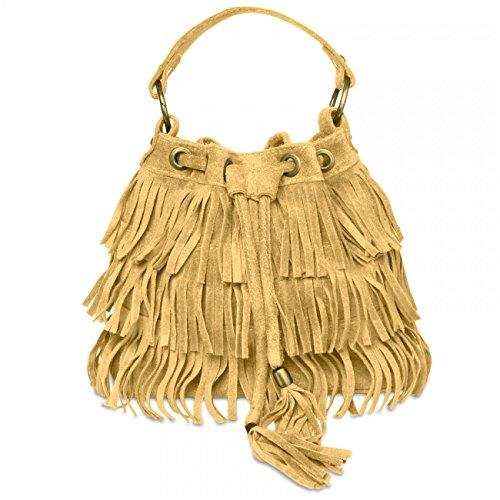 CASPAR Fashion, Borsa a mano donna Marrone (Marrone chiaro)