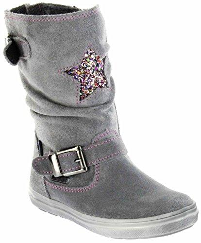 r Stiefel grau Velourleder Warm Sympatex Mädchen WMS 4454-441-6300 ash Ilva, Farbe:grau, Größe:34 ()