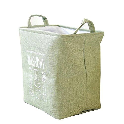 YOUJIA Schöner Stabiler Wäschesack Wäschekorb   Praktisch Aufbewahrungsmöglichkeit für schmutzige Wäsche Spielzeug   Wäschetonne (Grün, 36*25.5*38cm)