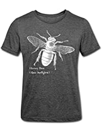 Spreadshirt Animal Planet Honey Bee Men's Polycotton T-Shirt