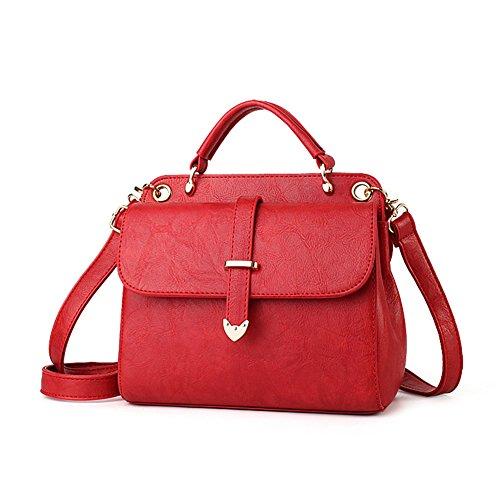 Borsa a tracolla retro borsetta obliqua femminile sacchetto di marea semplice atmosfera vino rosso femmina borsa-B B