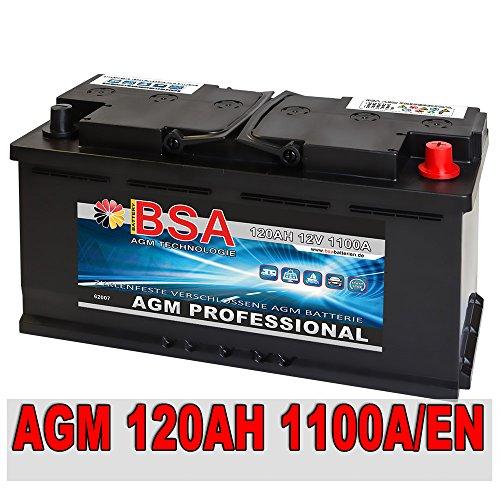 AGM Autobatterie 120AH - 1100A/EN Start Stop ersetzt 105AH 110AH Audi BMW Mercedes VW