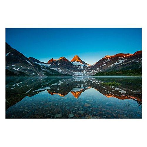 Vliestapete Berglandschaft am Lake Magog in Kanada, HxB: 255cm x 384cm