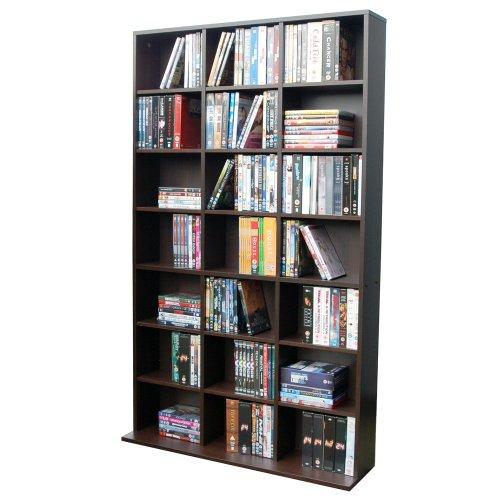 Preisvergleich Produktbild CUBE CD/DVD Regal für 588 CDs oder 378 DVDs Dunkle Eiche