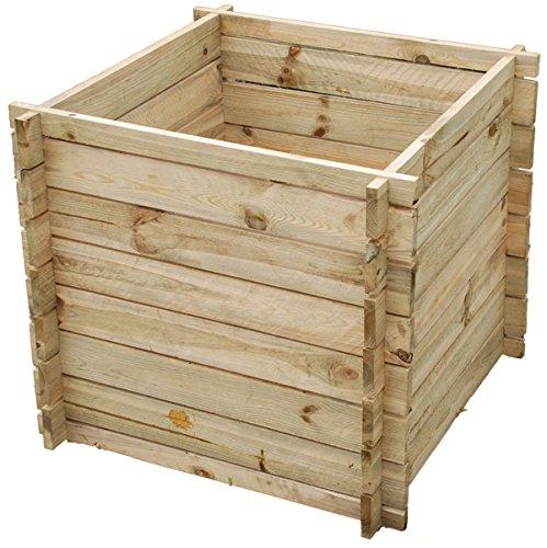 Primrose Lacewing 373 Liter Komposter aus Holz, 70cm x 73cm x 73cm