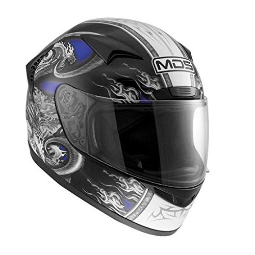 AGV Helmets New Spinter MDS E2205 Multi, colorAzul (Creature Azul), ta