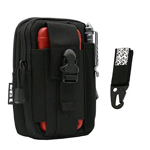 LefRight 1000D taktischer Rucksack MOLLE, Militär, EDC Man Universal Outdoor Gear Holster Utility Pouch Tragekapazität, Gürteltasche für iPhone 7 Plus Moto Z Play mit Schutzhülle