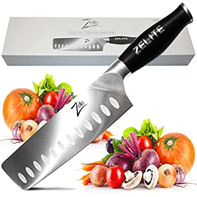 "Zelite Infinity Nakiri Chef Knife - Comfort-Pro Series - High Carbon Stainless Steel Knives X50 Cr MOV 15 >> 7"" (178mm)"