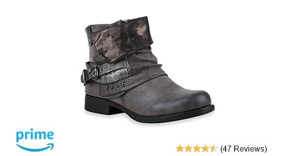 ce2a6e70439793 Stiefelparadies Damen Stiefeletten Biker Boots Flandell  Amazon.de  Schuhe    Handtaschen