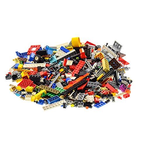 400 Teile Lego System BAU Steine Kiloware Sonderteile Farbe Größe zufällig bunt gemischt 0,60 kg z.B. Räder Platten Fenster