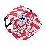 wuayi TAILUP Small Pet Casual Summer Canvas Cap Dog Baseball Visor Hat Puppy Outdoor Sunbonnet Cap (S, B) 15