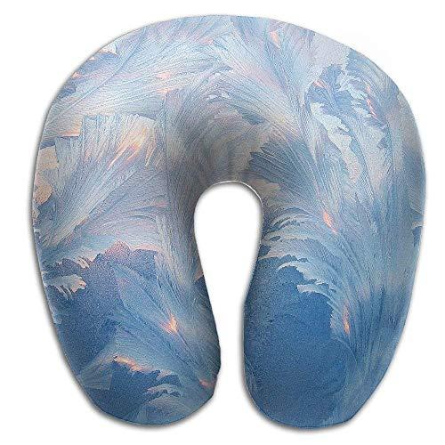 jinhua19 Nackenhörnchen Frosty-Pattern-floral U Type Pillow Memory Foam Neck Pillow Relex Pollow Travel Pillow Relief Neck Pain Seitenschläferkissen Floral Relief