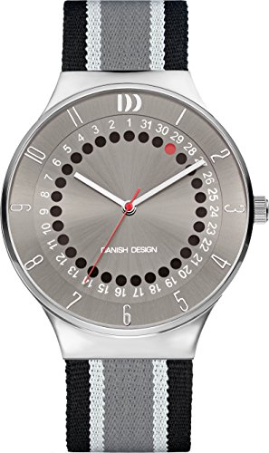 Danish Design Men's Quartz Watch with Grey Dial Analogue Display and Multicolour Fabric and Canvas Strap DZ120585