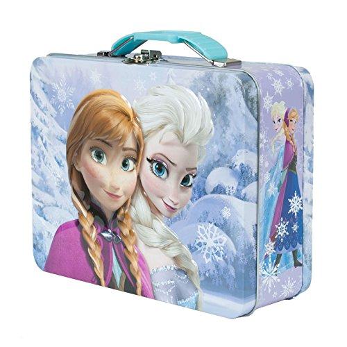 Disney Frozen Anna und Elsa Dose Lunch Box Geldbörse Aufbewahrungsbox Fall Tote Offizielles violett Disney-frozen-geldbörse