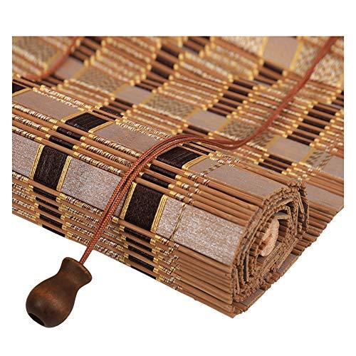 ZEMIN Bambus Raffrollo Bambusrollo Fenster Winddicht Warm Halten Schatten Zuhause Vorhang Aufrollen, 3 Farben, Multi-Size Custom (Farbe : A, größe : 100×200cm)
