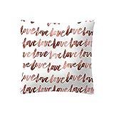 Yazidan Rose Gold Rosa Kissenbezug Platz Haus Dekoration Deckt Kissen Ab Unterhose Auto Sofa Zuhause KissenbezüGe Versteckt ReißVerschluss Kein EinfüGen Kurz Dekor Couch Drucke,45x45cm(I)