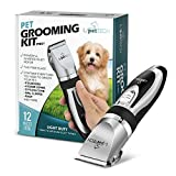 PetTech Professional Dog Grooming Kit - Rechargeable, Cordless Pet Grooming Clippers & Complete