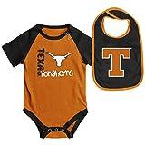 Texas Longhorns NCAA Infant 'Rookie' Onesie w/Bib Set