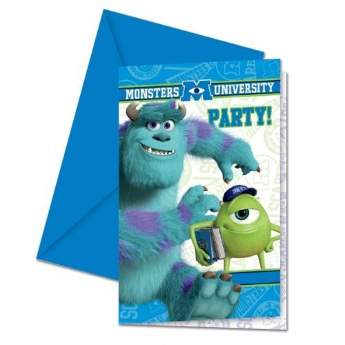 Monsters Inc Monsters University Party Einladungen x 6