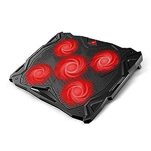 """Base Refrigeracion Portatil Ventilador Portátil Cooler Fan Refrigeracion Gaming con 5 Ventiladores Silenciosos y 2 Puertos USB, para Computadoras Portátiles de hasta 17 """"(F2068)"""