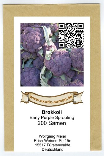 Brokkoli - Broccoli - Early Purple Sprouting - 200 Samen