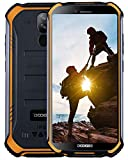 DOOGEE S40 4G Télephone Portable Debloqué Incassable Android 9,0, 3GO+32GO IP68/IP69K Smartphone Etanche Antichoc Double SIM 5,5 '', 4650mAh Cameras 8MP+5MP, NFC Empreinte Digitale Face ID, Orange