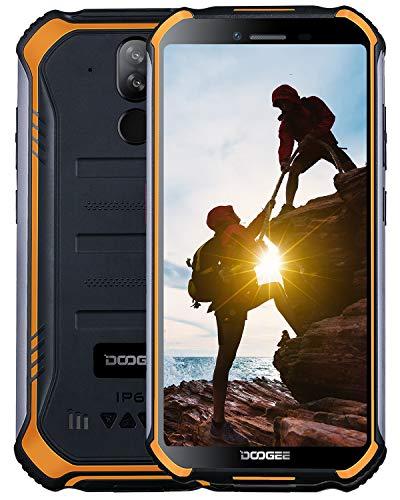 DOOGEE S40 Dual SIM 4G Movil Todoterreno, Android 9.0 Telefonos Moviles Libres Antigolpes IP68/IP69K Impermeable 3GB+32GB 4650mAh 5.5'', Cámara 8MP+5MP NFC Huella Dactilar Desbloqueo Facial - Naranja