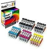 Koala Tintenpatronen/Druckerpatronen 25er Multipack Ersatz für Canon PGI-550 / CLI-551 kompatibel mit Canon Pixma IX6850 / IP7250 / IP8750 / MG5450 / MG5550 / MG6350 / MG6450 / MG7150 / MX725 / MX925 (5*Schwarz, 5*Foto-schwarz, 5*Cyan, 5*Magenta, 5*Gelb)