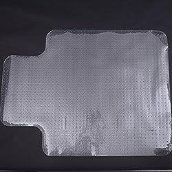 Alfombra Protectora para Silla de Oficina 90x120cm Protector Suelo Enmoquetado (Convexo, Con picos antideslizantes)
