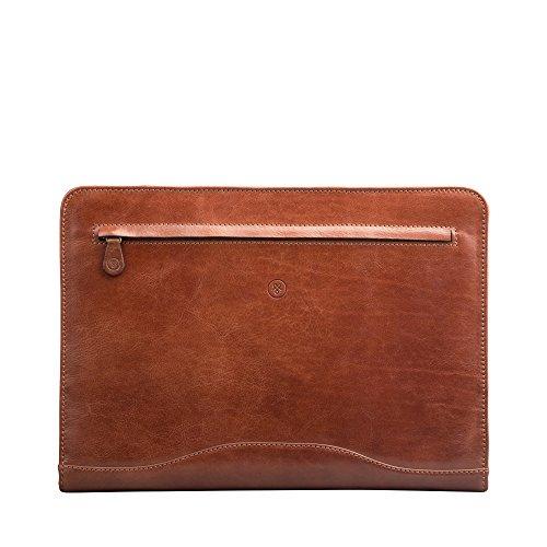 Maxwell-Scott® Luxury Premium Handmade Finest Italian Leather Professional Ring Binder Folder (The Veroli)