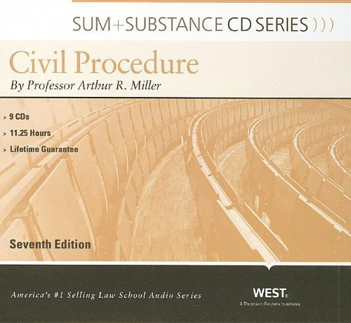 Miller's Sum and Substance Audio on Civil Procedure, 7th (CD) (English and English Edition) by Miller, Arthur (2010) Audio CD