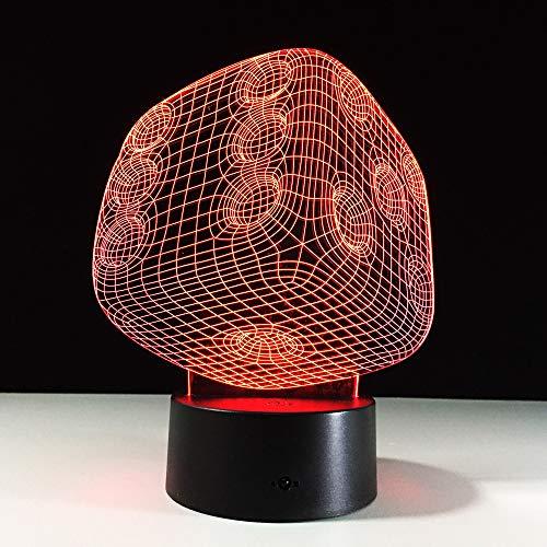 Lámpara LED 3D Alfabeto Letra Xr Escritorio inalámbrico Luz nocturna Dormitorio # Dec 6#