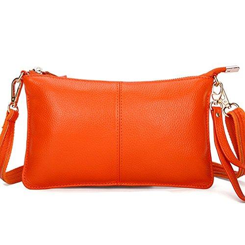 Eysee, Poschette giorno donna Nero rosa 24cm*14cm*1cm arancione