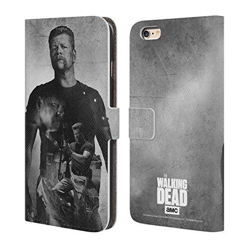 Offizielle AMC The Walking Dead Daryl Doppelte Aussetzung Brieftasche Handyhülle aus Leder für Apple iPhone 6 / 6s Abraham