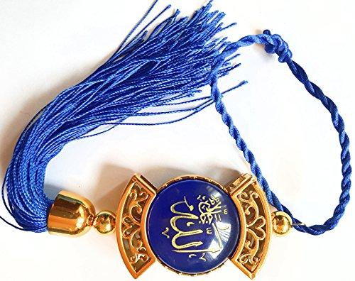 Blau Rot in Herzform zum Aufhängen Deko Amulett Ornament islamischen Muslim Art