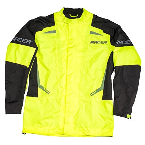 Racer FLEX Regenjacke Motorrad - fluo gelb schwarz Größe 4XL