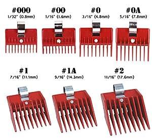 7pcs Speed O Guide Universal Clipper Comb Attachments 7