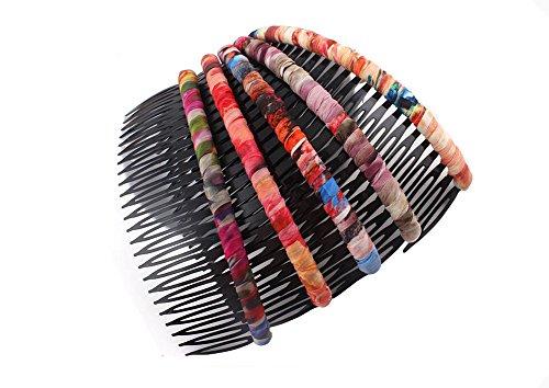2Haar 24Dekoration comb-flower Prints für Haar Clips Kopfbedeckungen Haar Styling-Werkzeuge (zufällige Farbe)