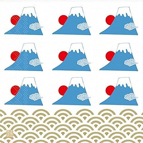 Traditionelle japanische Muster Serie Papiertuch, Serviette, 10er-Pack - Japan Import - Mount Fuji PNK-027