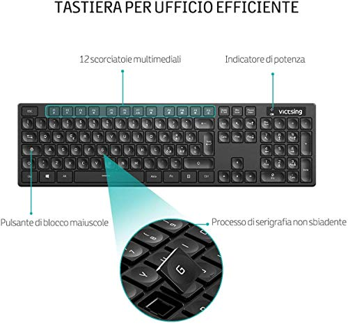 Zoom IMG-2 victsing tastiera e mouse wireless