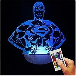Superman Deko lámpara Who called Me (3d de discapacitados Illusion)