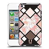 Head Case Designs Kreuz Schwarz und Pink Ruckseite Hülle für Apple iPod Touch 4G 4th Gen