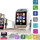 Reloj inteligente Pandaoo universal, libre, GSM, Bluetooth 4.0, NFC, batería de 500 mAh, reproductor de música, cámara, calendario, cronómetro, sincronización con teléfonos móviles Android