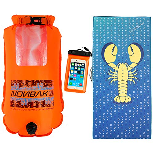 6ebd6dccbf6c Boya de natacion estanca NONBAK SELFIE 28L con ventana. Nadadores aguas  abiertas, Kayak, deportes ¡Toalla regalo!