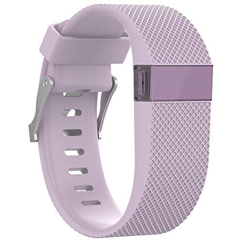 Für Fitbit Charge HR, 12shage Ersatz-Armband Silikonband Gummiband Wristband (Rosa)