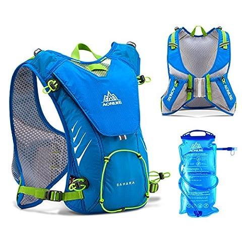 Geila Running Outdoor Hydration Backpack Pack Veste avec 1,5L de vessie pour faire du cyclisme Randonnée (Bleu + 1,5L de
