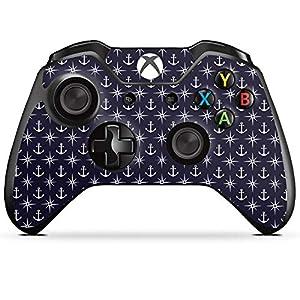 DeinDesign Skin kompatibel mit Microsoft Xbox One Controller Folie Sticker Anker Seefahrer Sterne