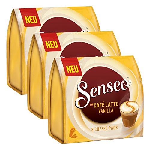 Senseo Kaffeepads Café Latte Vanilla, Vanille Milchkaffee, Milch Kaffee Pad, 24 Pads