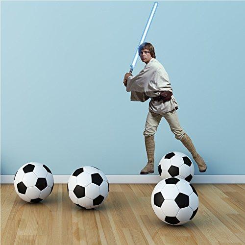 Star Wars Luke Skywalker Volle Farbe Selbstklebend Vinyl Wandkunstaufkleber Kinderzimmer Wandgemälde Aufkleber Grafik
