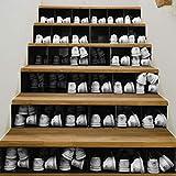 Treppenaufkleber Einfache Kreative 3D-Treppe Aufkleber Schwarz Und Weiß Schuhschrank Renovierung Treppe Aufkleber Selbstklebende Wandaufkleber Wasserdicht
